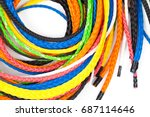 isolated colorful plastic rope  ... | Shutterstock . vector #687114646