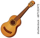 vector acoustic guitar | Shutterstock .eps vector #687132472