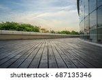 modern glass building exterior  | Shutterstock . vector #687135346