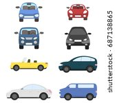 collection of different vector... | Shutterstock .eps vector #687138865