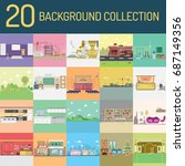 background collection | Shutterstock .eps vector #687149356