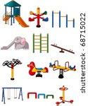 cartoon playground  icon | Shutterstock .eps vector #68715022