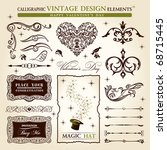 calligraphic elements vintage... | Shutterstock .eps vector #68715445
