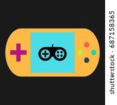 joystick simple vector icon....