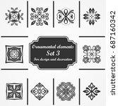 ornamental elements set....   Shutterstock .eps vector #687160342