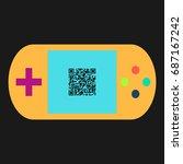 qr code simple vector icon....