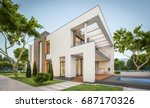 3d rendering of modern cozy... | Shutterstock . vector #687170326