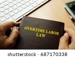 book with title overtime labor... | Shutterstock . vector #687170338