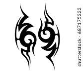 tattoo tribal vector design.... | Shutterstock .eps vector #687175222