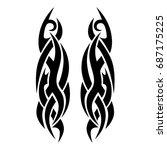 tattoo tribal vector design....   Shutterstock .eps vector #687175225