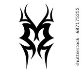 tribal tattoo art designs.... | Shutterstock .eps vector #687175252