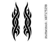 tribal pattern tattoo vector...   Shutterstock .eps vector #687175258