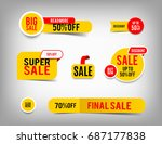 sale banner set  discount tag... | Shutterstock .eps vector #687177838