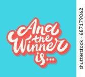 and the winner is... vector... | Shutterstock .eps vector #687179062