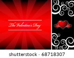 valentine's day template card | Shutterstock .eps vector #68718307