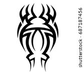 tribal tattoo art designs.... | Shutterstock .eps vector #687187456