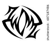 tattoo tribal vector designs. | Shutterstock .eps vector #687187486