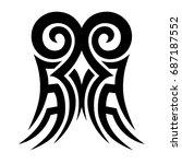 tribal tattoo art designs.... | Shutterstock .eps vector #687187552