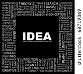 idea. word collage on black... | Shutterstock .eps vector #68719369