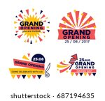 set of grand opening... | Shutterstock .eps vector #687194635