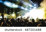 young people dancing and having ... | Shutterstock . vector #687201688