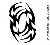 tattoo tribal vector designs. | Shutterstock .eps vector #687204256