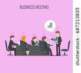 business meeting  | Shutterstock .eps vector #687213835