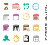 event icons | Shutterstock .eps vector #687214462
