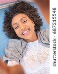 portrait beautiful young... | Shutterstock . vector #687215548