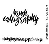 hand drawn elegant calligraphy... | Shutterstock .eps vector #687215875