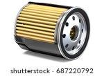oil filter half cut. 3d... | Shutterstock . vector #687220792
