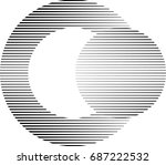 circle logo with straight... | Shutterstock .eps vector #687222532