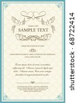 invitation card template | Shutterstock .eps vector #68722414