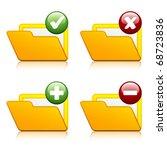 vector add delete folder icons   Shutterstock .eps vector #68723836