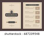 restaurant logo and menu design ...   Shutterstock .eps vector #687239548