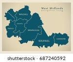 modern map   west midlands