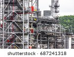 close up industrial zone. plant ... | Shutterstock . vector #687241318