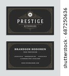 business card vintage ornament... | Shutterstock .eps vector #687250636