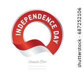 independence day indonesia flag ... | Shutterstock .eps vector #687252106