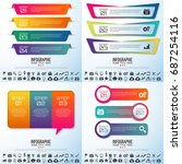 infographics design template... | Shutterstock .eps vector #687254116