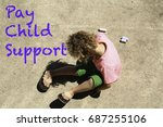 a young child with curly hair...   Shutterstock . vector #687255106