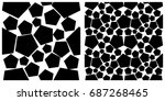 seamless pattern of pentagon.... | Shutterstock .eps vector #687268465