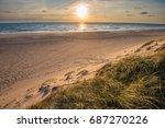 north sea beach  jutland coast... | Shutterstock . vector #687270226