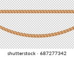 vector realistic isolated rope... | Shutterstock .eps vector #687277342