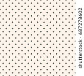 vintage seamless pattern with... | Shutterstock .eps vector #687278602