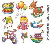 vector illustration of cartoon... | Shutterstock .eps vector #687278806