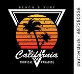t shirt graphics   vector print ... | Shutterstock .eps vector #687280336