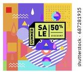 summer sale memphis style web...   Shutterstock .eps vector #687281935