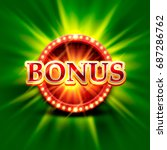 casino bonus banner on a bright ... | Shutterstock .eps vector #687286762