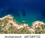 mediterranean seashore | Shutterstock . vector #687289732